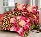 #5: IWS 3d Luxury Printed Double Bedsheet with 2 Pillow Covers (IWS-3d-703)