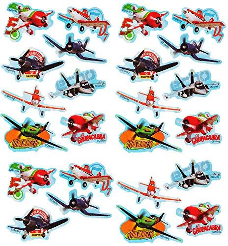 Unbekannt 24 tlg. Set _ Aufkleber / Sticker -  Disney Planes - Flugzeuge Dusty  - Selbstklebend - für Jungen - Flugzeug Stickerset Kinder - z.B. für Stickeralbum / Figuren - Fahrzeuge / Cars