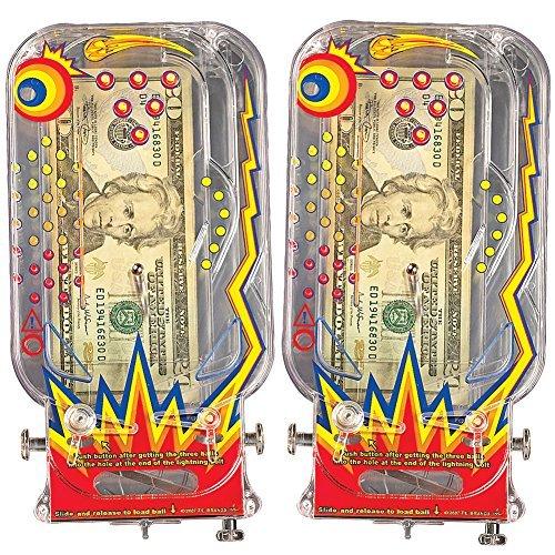 Bilz Retro Pinball Money Machine (Set Of 2) Clear