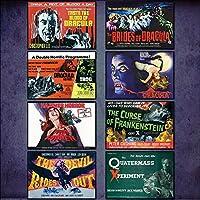 Hammer Horror Film Poster Kühlschrankmagnete - Set von 8 großen Kühlschrankmagnete No.1