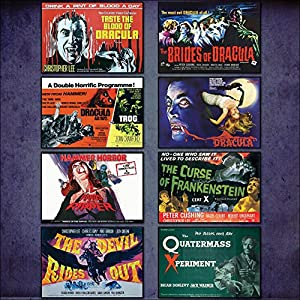 Hammer Horror Film Poster Kühlschrankmagnete – Set von 8 großen Kühlschrankmagnete No.1