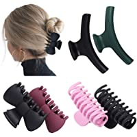 6Pack Hair Claw Clips Strong Hold Clamp Grip for Women Girls,4 Colors.