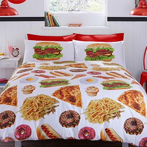 -bedding-food-junkie-munchies-housse-de-couette-fun-parure-de-lit-imprime-floral-jaune-blanc-marron-