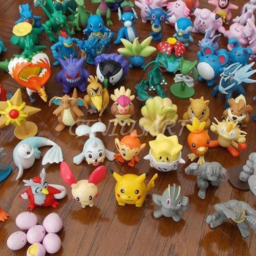 Preisvergleich Produktbild 24PCS Cute Lots 2-4cm Pokemon Monster Mini Random Figures Toy Party Gifts
