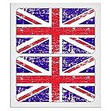 2x 70mm–7cm Used-Look Union Jack UK Flaggen laminiert Aufkleber Aufkleber Hohe Qualität von miovespa Collection