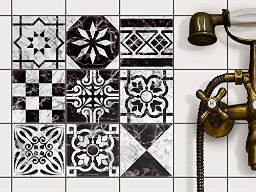 Stickers design piastrelle decorazione d interni for Rivestimento bagno adesivo
