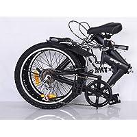 Vélo pliable, 50,8 cm, portable, compact, léger, 6 vitesses, excellente suspension, vélo pliable pour hommes, femmes…