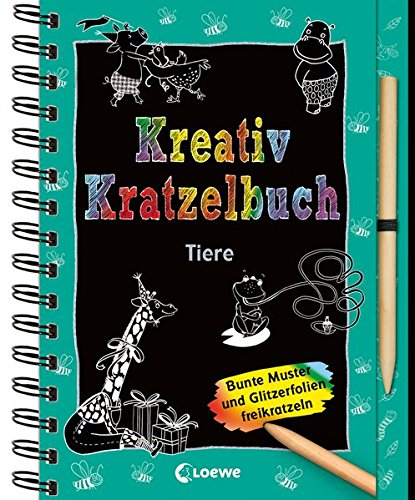 Kreativ-Kratzelbuch: Tiere