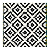 Ikea LAPPLJUNG Ruta Kurzflor Teppich in weiß/schwarz; (200x200cm)