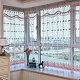 GUOCAIRONG® Tulle Vorhang Floral Sheer Tüll Fenster Vorhänge für Wohnzimmer das Schlafzimmer Moderne Tüll Vorhänge für Fenster Vorhang Stoff Jalousien Vorhänge 1 Stk