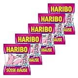 Haribo Süsse Mäuse, 5er Pack, Schaumzucker, Fruchtgummi, Im Beutel, Tüte