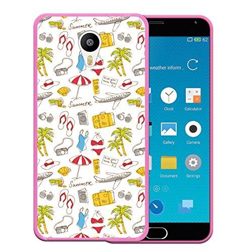 Meizu m2 note Hülle, WoowCase Handyhülle Silikon für [ Meizu m2 note ] Ferien Handytasche Handy Cover Case Schutzhülle Flexible TPU - Rosa