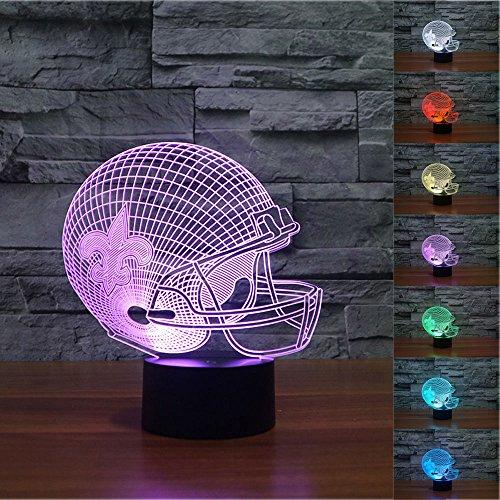 Tama Caumi New Orleans Saints 3D Nachtlicht 7 Farbwechsel LED Schreibtischleuchte - Bay Deckenventilator