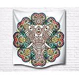 """A.Monamour 60 """"X 60"""" Tela India Psicodélico Mandala Hippie Elefante Impresión Pared Colgante Bohemio Tiro Hogar Decoración Colcha Tapiz"""