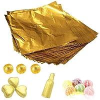 1 Sac (100 PCS) 4 '' Or Embossage Papier D'aluminium Carré Bonbons Bonbons Lolly Papier Chocolat Cadeaux Wrappers Poudre…