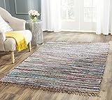 Safavieh Elena Handgewebt Teppich Baumwolle Rot/Mehrfarbig 200 x 300 cm