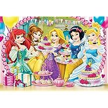 Clementoni 27914 - Puzzle SuperColor Princess Royal Tea Party, 104 Pezzi