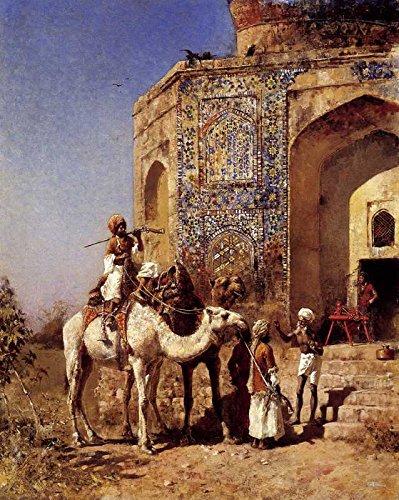 Das Museum Outlet-Art Postkarte-Wochen Edwin Lord Old Blau gekachelt Moschee Außerhalb von Delhi Indien-Set von 12Postkarten
