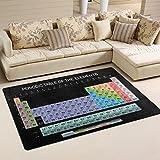 COOSUN Periodensystem Bereich Teppich Teppich rutschfeste Fußmatte Fußmatten für Wohnzimmer Schlafzimmer 78,7x 50,8cm, Textil, multi, 31 x 20 inch