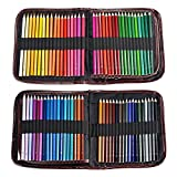 72 Crayons de Couleurs avec Un Paquet AGPTEK (aucune en double), Crayons Dessin Anti-cassure Pré-taillés Assorties à Base d'huile