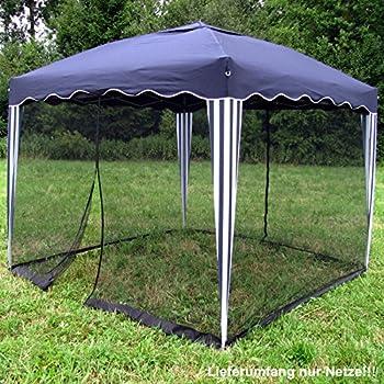 fliegengitter insektenschutz f r alu faltpavillon 3x3m schwarz moskitonetz garten. Black Bedroom Furniture Sets. Home Design Ideas