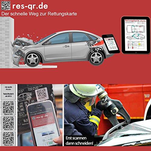 Preisvergleich Produktbild Suzuki SX6 SX4 ab 2005: QR-Etiketten-Nachrüst-Satz für Zugang zur digitalen Rettungskarte (3 Etiketten plus Hinweisplakette)