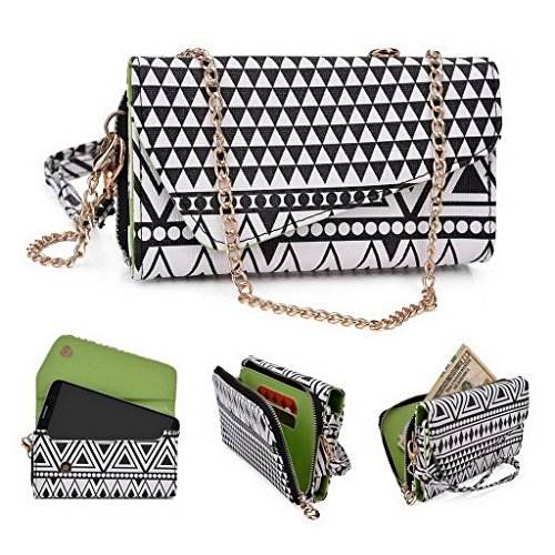 Kroo Pochette/Tribal Urban Style Coque pour Motorola Moto X Play White and Orange Noir/blanc