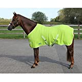 Fleece Abschwitzdecke mit Kreuzbegurtung - tolle Qualität viele Farben / Größen , Groesse:150, Farbe:hellgruen