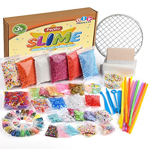 FEPITO 84 Pack Slime Supplies Kit incluyendo Bolas...