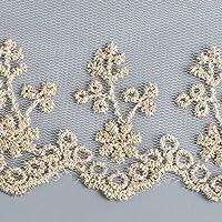 Cinta de encaje bordada con patrón floral para decorar vestidos, costura de 9 cm