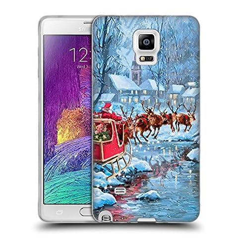 Officiel The Macneil Studio Vol Père Noël Étui Coque en Gel molle pour Samsung Galaxy Note 4