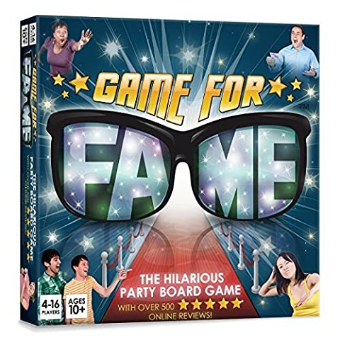 Game For Fame: Hilarious party Board Game for up to 16 players! Family, Friends, Adults, Teens!