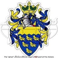 West Sussex stemma distintivo Crest Inghilterra Regno Unito 104mm (10,4cm) adesivo in vinile, decalcomania