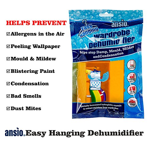 comprare on line Ansio 94611deumidificatore per interni, da appendere nel guardaroba, 210g, confezione da 6 prezzo