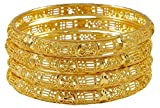 Banithani 18K Gold überzog indische Frauen 4PC Bangle Set Kada Armbänder Bollywood Schmuck-2 * 10