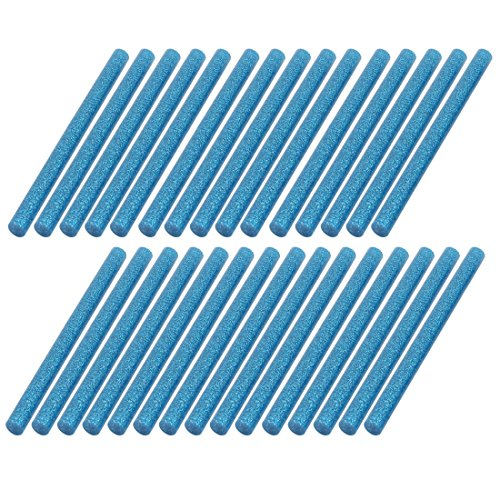 sourcing map 30 Pcs 100mm x 7mm Glänzende Blaue Heißkleber Stock für Heizpistole DE de C-map Pc