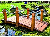 Das Highlight für Ihren Garten - Brücke mit Handlauf