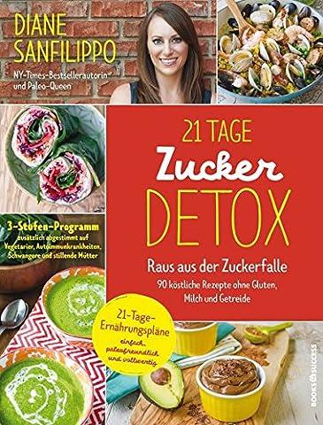 21-Tage-Zucker-Detox: Raus aus der Zuckerfalle – 90 köstliche Rezepte ohne Gluten, Milch und (Gluten Laktosefrei)