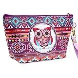 Gemini_Mall Süße, modische Kosmetiktasche, Handtasche, Kulturbeutel, Aufbewahrungsbeutel, Federmäppchen, mit Eulenmotiv mehrfarbig