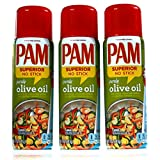 PAM® Olive Oil No-Stick Cooking Spray 3 x 141g (3-Pack)