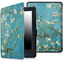 """Fintie Case for All-New Kindle E-reader (8th Generation 2016) - The Thinnest and Lightest SmartShell Cover Auto Wake/Sleep for Amazon All-New Kindle (6"""" Display, 8th Gen 2016 Release), Blossom"""