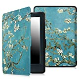 Fintie Case for All-New Kindle E-reader (8th Generation 2016) - The Thinnest and Lightest SlimShell Cover Auto Wake/Sleep for Amazon All-New Kindle (6 Display, 8th Gen 2016 Release), Blossom