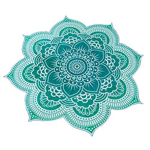 Eizur mandala teli mare telo spiaggia coperta chiffon beach towel beach throw stile hippy copriletto arazzo decorativo tovaglia pannello yoga tappeto wall tapestries verde