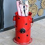 XRXY Soporte de paraguas creativo de la vendimia / Inicio Práctico paraguas de la puerta Cubo / estantería de balcón impermeable Almacenamiento Rack / Bar Decoraciones Paragüero (3 colores disponibles) ( Color : Rojo )