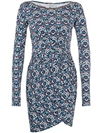 Hoss Intropia Mujer vestido Jersey con fruncido Color Azul