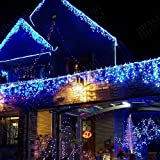Hengda® 15M LED Lichtschlauch Lichterschlauch XMAS Außen Innen Weihnachten Deko 36W Lichterkette AC230V Blau IP44 Schutzgrad