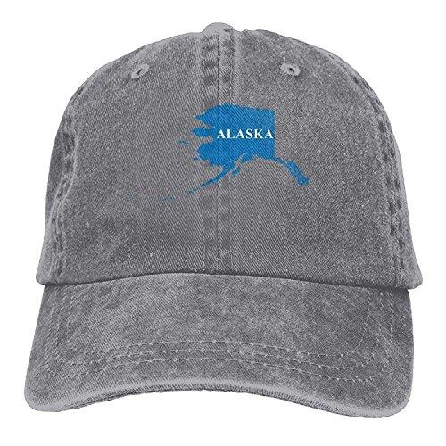 Yutirewer Baseball Cap Alaska Map Unisex Baseball Cap Polo Style Low Profile -