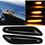 2x LED Flowing Side Marker Indicator Light for E46 E60 E82 E92 E93 Dynamic (Black)