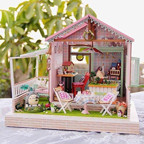 Rylai Wooden Handmade Dollhouse Miniature DIY Kit - Dreamland Series...