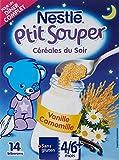 Nestlé Bébé P'tit Souper Vanille Camomille Céréales du soir dès 4/6 mois 250g - Lot de 6